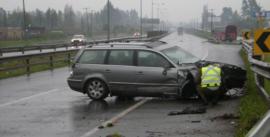 Accidentes en la vía
