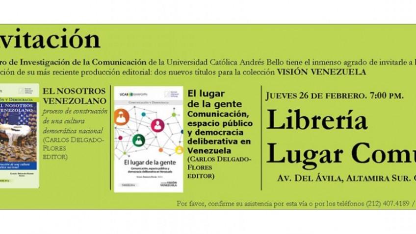 Dos nuevos libros de Visión Venezuela