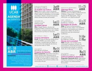 Agenda UCAB abril 2015