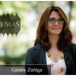 La socióloga Genny Zúñiga en la serie Temas
