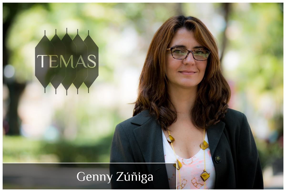 Genny Zúñiga en la serie Temas