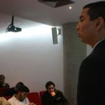 Daniel Fermín en el foro sobre la política