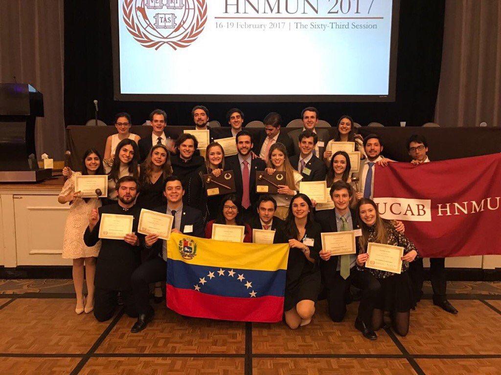 La UCAB recibirá a la delegación ganadora del HNMUN 2017