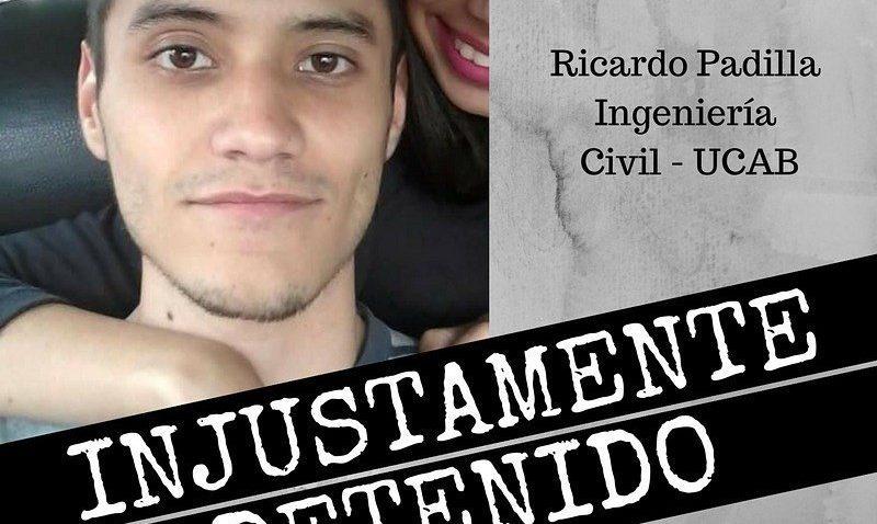 Estudiante ucabista continúa detenido