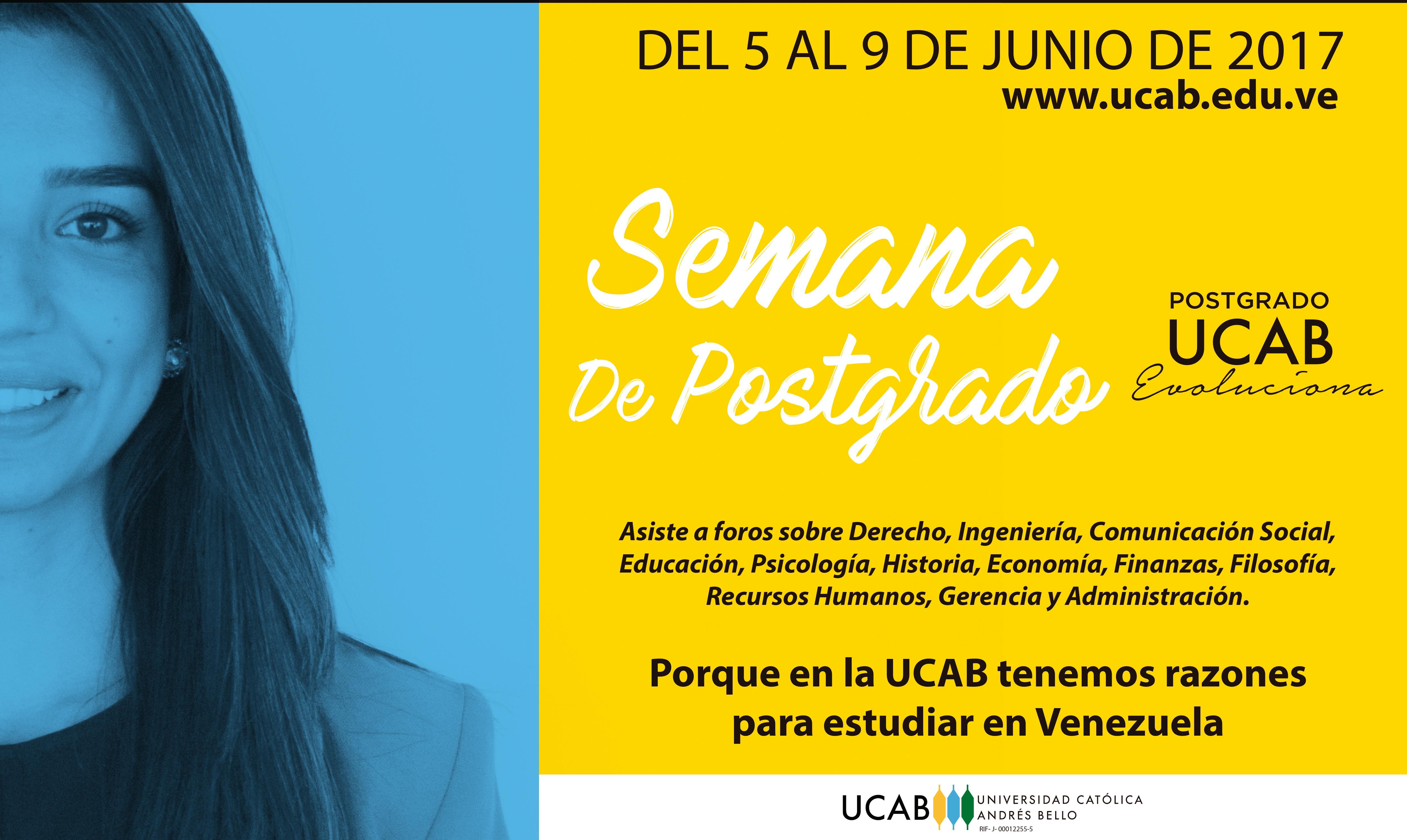 Semana de Postgrado UCAB debatirá realidad del país