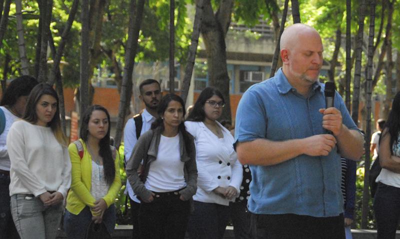 Ucabistas en Caracas se solidarizaron con compañeros de UCAB Guayana
