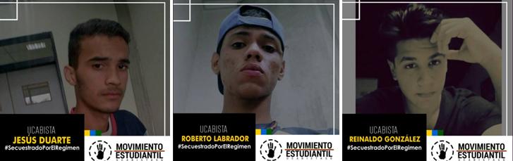 Tres estudiantes de UCAB Guayana fueron detenidos este 27 de junio