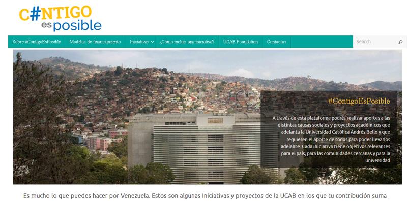 La UCAB lanzó el portal de donaciones #ContigoEsPosible para apoyar sus iniciativas sociales
