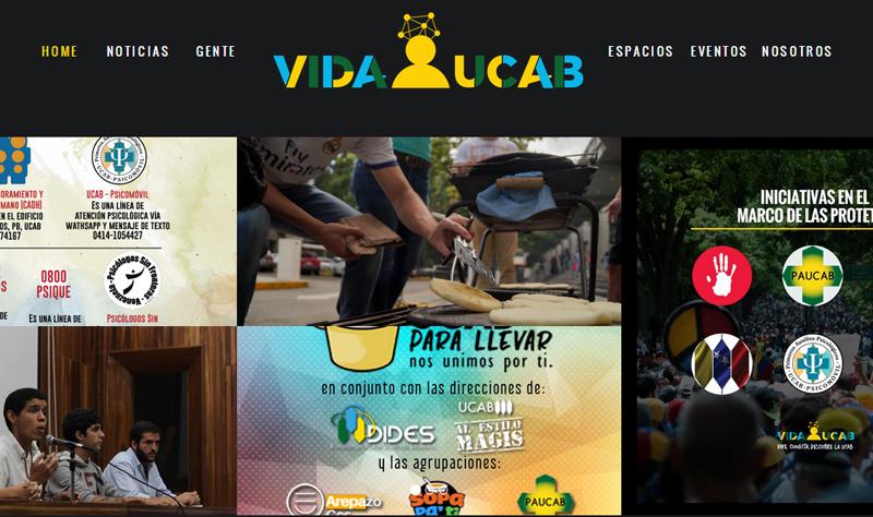 Nace Vida UCAB: el sitio web hecho por y para estudiantes