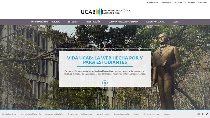 La UCAB renueva su página web