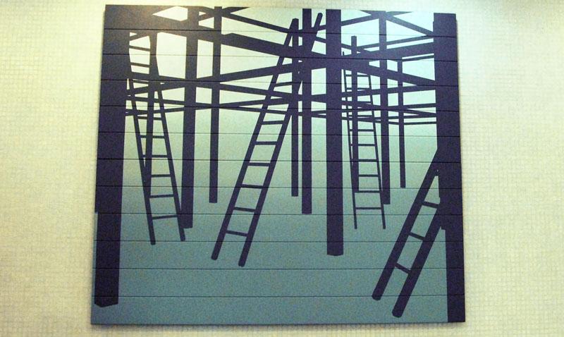Mural del artista Julio Pacheco engalana el Centro Cultural de la UCAB