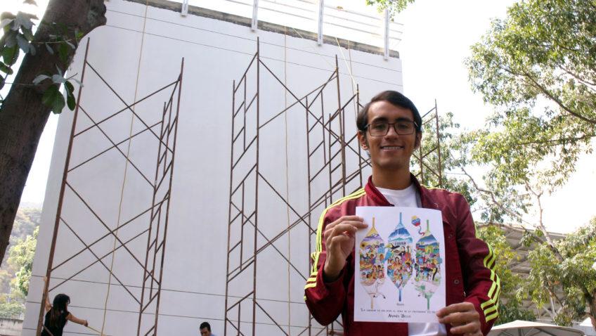 La UCAB inició instalación del mural #RetoPaís creado por Oscar Olivares