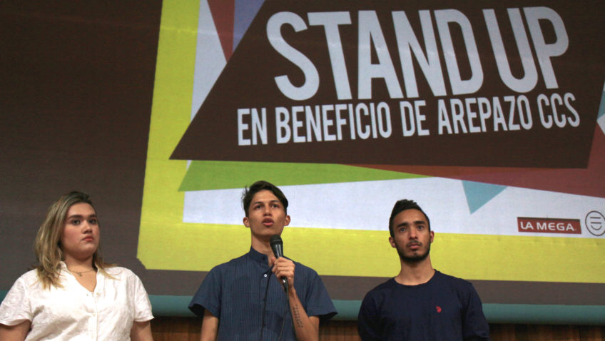 Arepazo Caracas realizó Stand-Up Comedy para recolectar alimentos