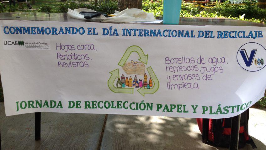 La UCAB promueve el reciclaje en el campus