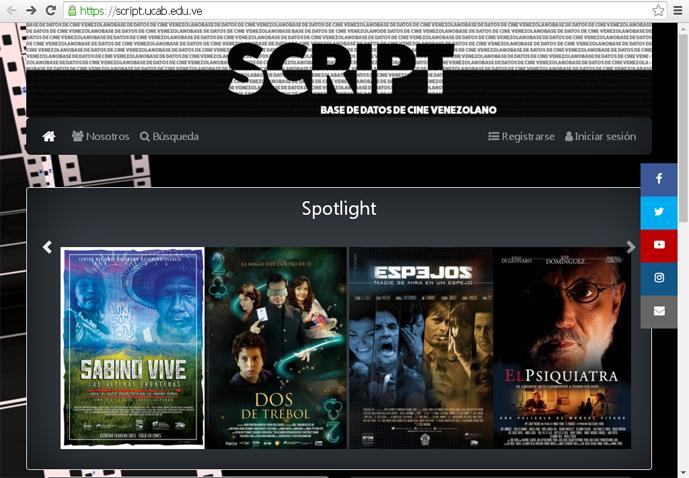 Proyecto Script: La base de datos más grande sobre cine venezolano