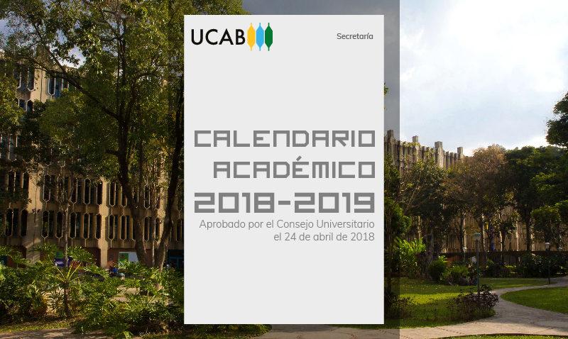 Ya están disponibles los calendarios académicos 2018-2019
