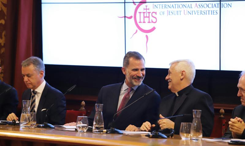 El venezolano Arturo Sosa y el rey de España inauguraron Asamblea mundial de universidades jesuitas