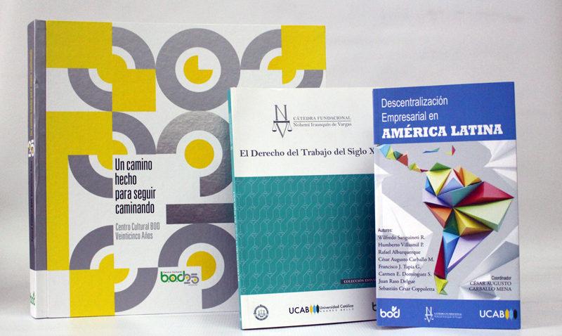 El Fondo Editorial BOD presentará tres títulos en la FLOC UCAB 2018