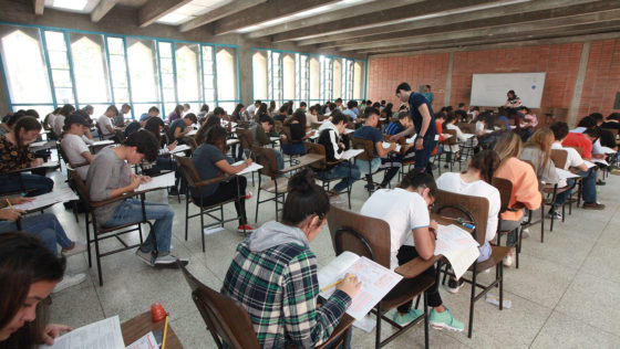 Masiva participación se registró en la prueba de conocimientos de pregrado