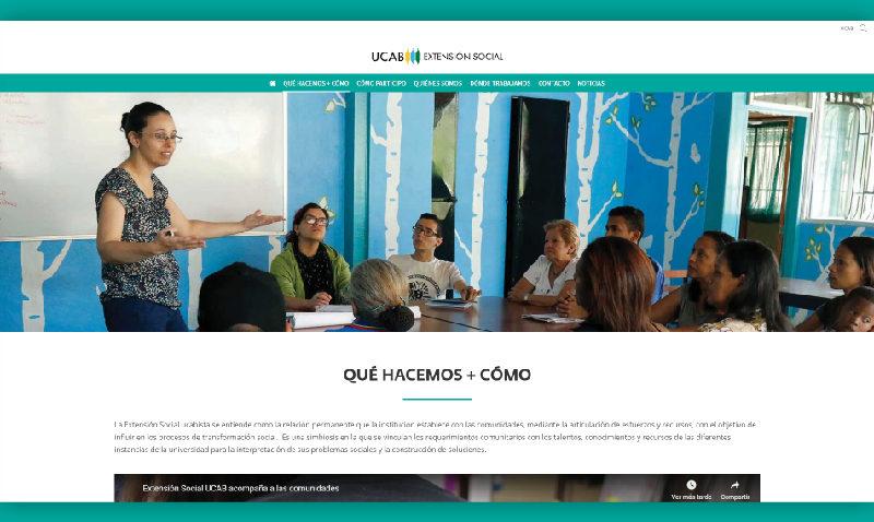 La UCAB pone los planes y servicios de su Extensión Social al alcance de un clic