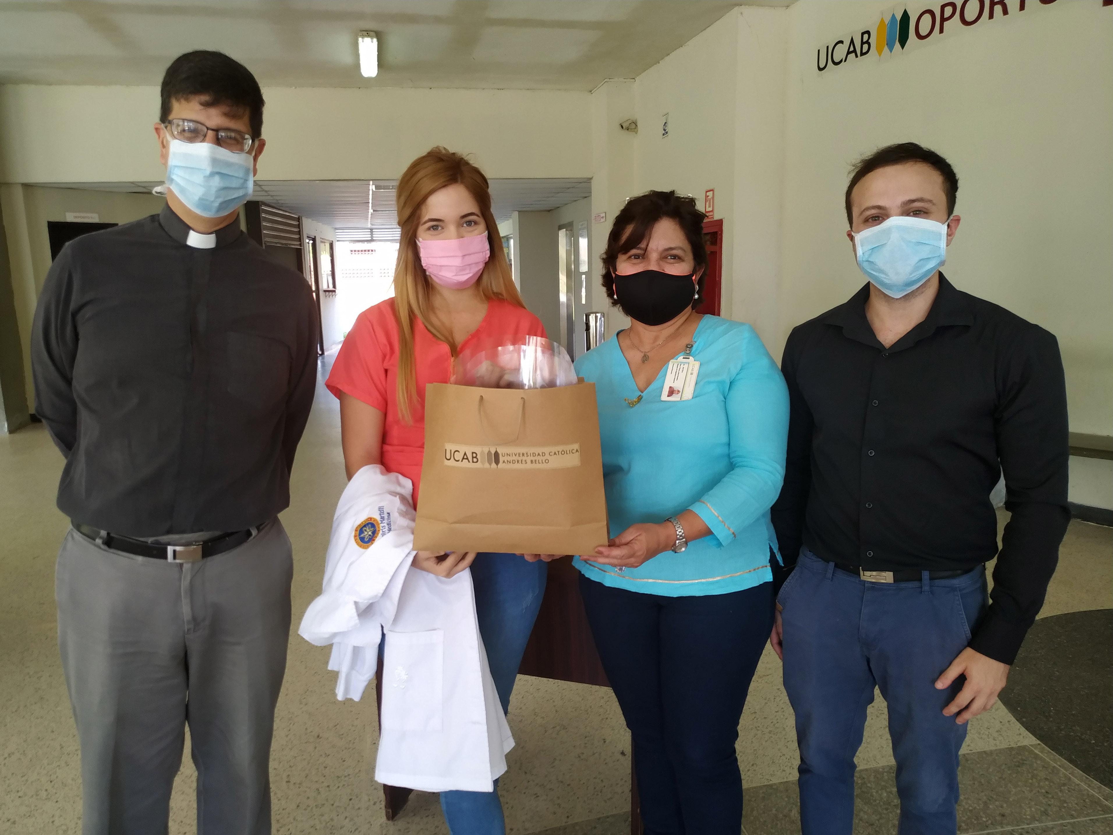 Hospitales del estado Bolívar recibieron protectores faciales fabricados por UCAB Guayana