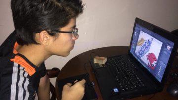 Gabriel Moncada ganó el concurso artístico «Adolescentes desde la casa» del Centro Cultural UCAB