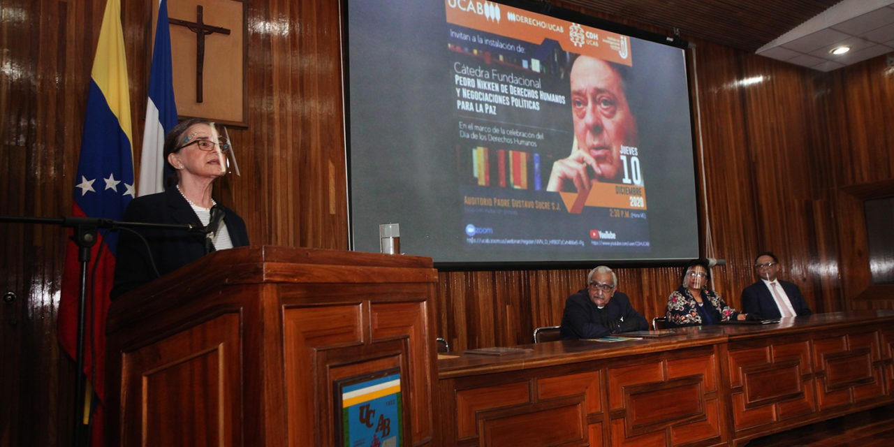 Por el legado de un hombre de paz: UCAB instaló cátedra en honor a Pedro Nikken